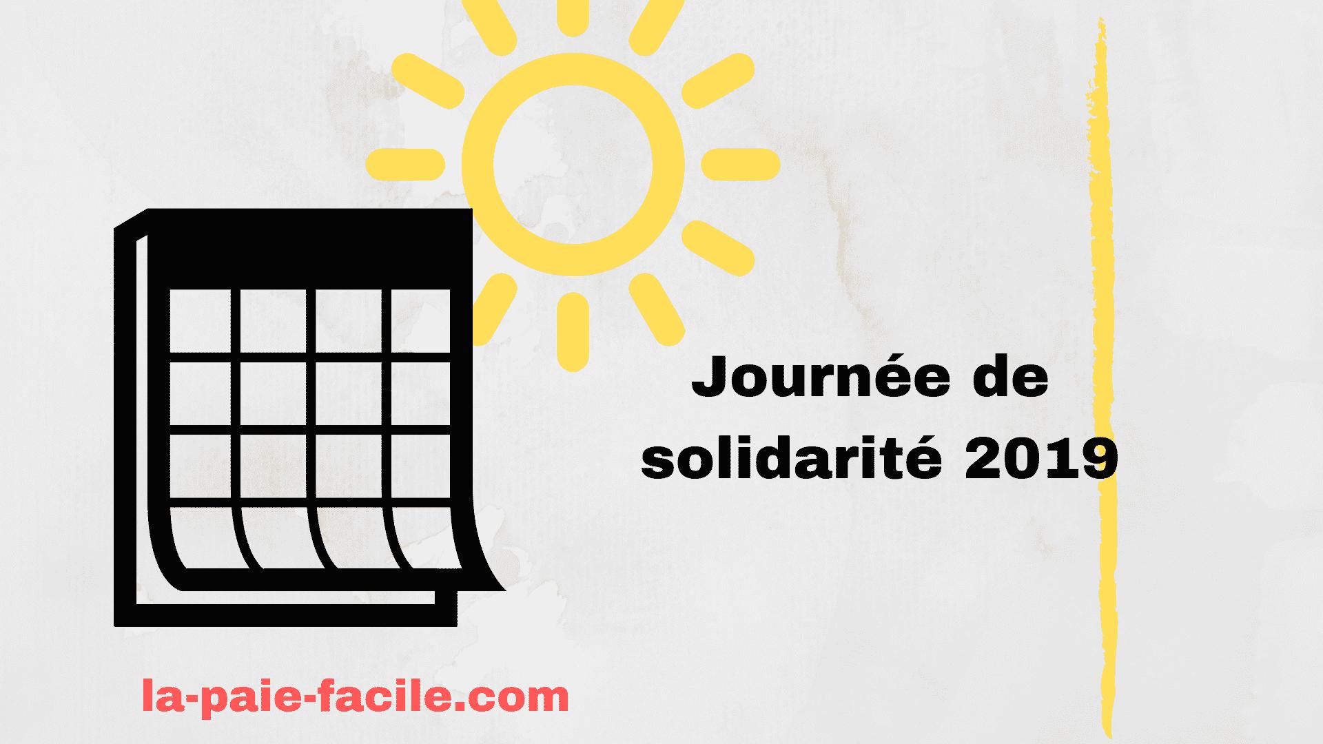 journée de solidarité 2019