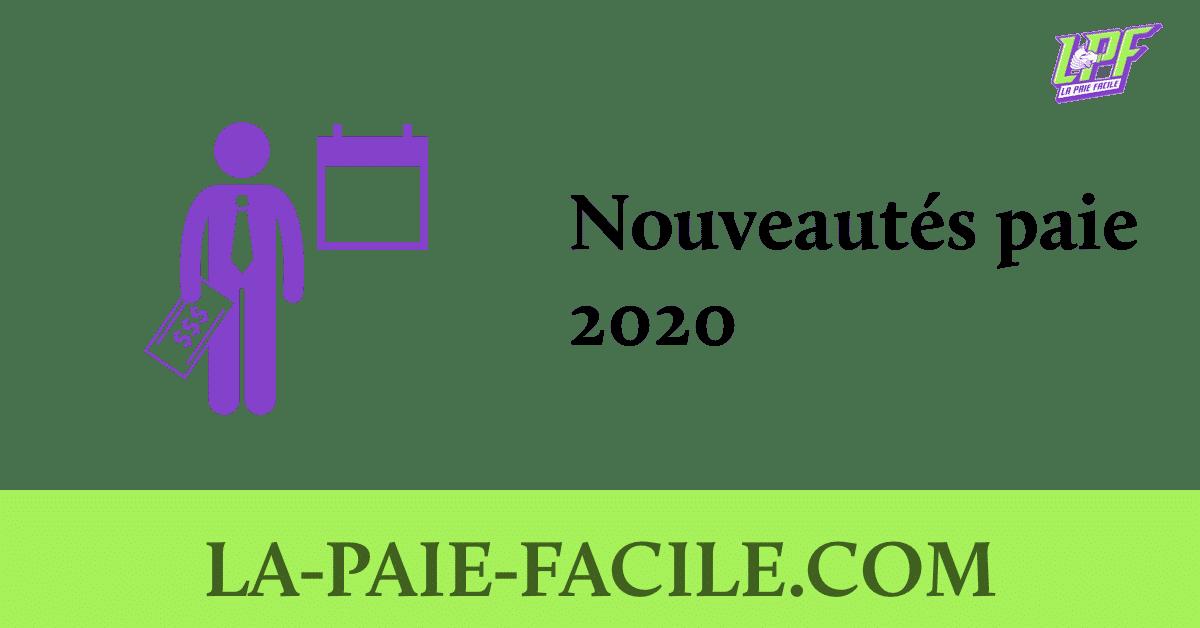 nouveautés paie 2020